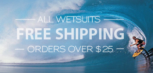 Free shipping on surf wetsuits